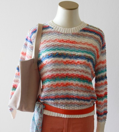 Pull Than Multicolore Encolure Ronde Petite Taille