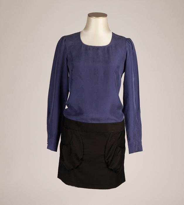 robe petite taille bayon bleue electrique et noire colilie v tements petites tailles robe. Black Bedroom Furniture Sets. Home Design Ideas