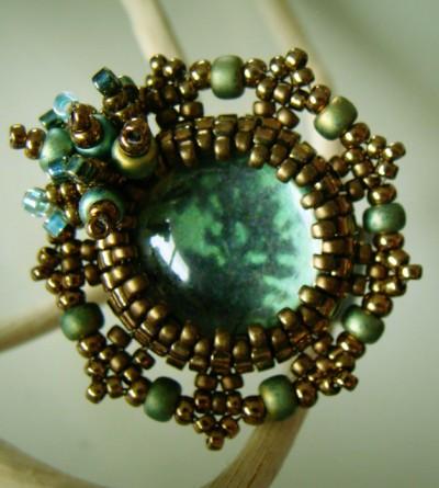 Bague Pupa Vert Bronze