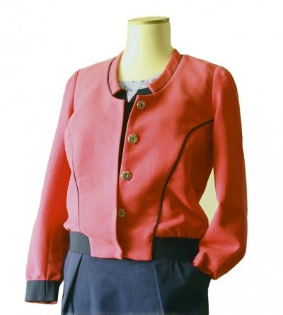 Blouson Swai en Piqué Coton Rouge Pastèque Petite Taille