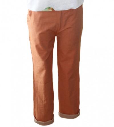 Pantalon Mihra en Coton Bio Ocre Petite Taille