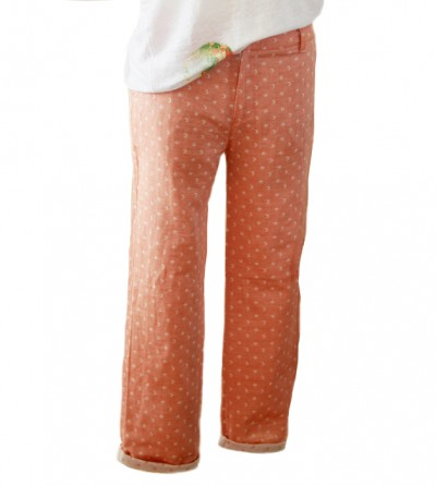 Pantalon Mihra en Coton Bio Imprimé Ocre Petite Taille