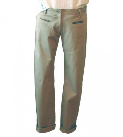 Pantalon Petite Taille Kho Kong Beige
