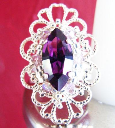 Bague Apolline en Cristal de Swarovski Violet