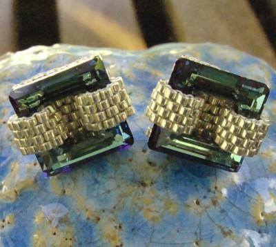 Boucles Oreilles Cuba en Cristal Swarovski Vert