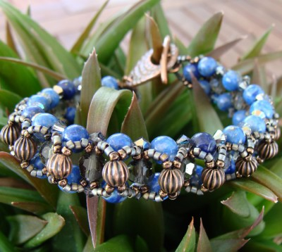 Bracelet Alice en Lapis Lazuli Denim Petite Taille