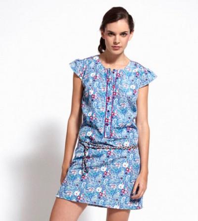 Robe Phnom Penh imprimée sarong Bleu